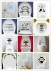 New Art Toilet Seat Wall Sticker Vinyl Wallpaper Removable Bathroom Decals Decor