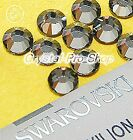 GENUINE Swarovski Silver Night (SINI) Crystal glass Iron on Hotfix Rhinestones