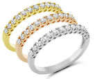 .35 Ct Round  Certified Natural Diamond 14K Wedding Band 3 To Choose From