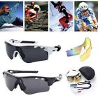 3 Lens Professional Polarized Cycling Bike Glasses Skiing Sports Sunglasses NEW