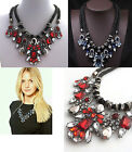 2014 Trend Western Stunning Sparkling Crystal Flower Double Rope Bib Necklace