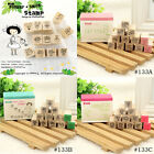 1X Cute Mini DIY Cartoon Pattern Wooden Rubber Stamp Korean Style Free Shipping