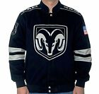 """Dodge Ram Racing Jacket Black Cotton Twill Embroidered Logos """"BLOWOUT"""" SALE"""