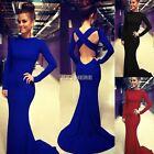 Sexy Ladies Mermaid Prom Ball Cocktail Party Long Dress Formal Evening Gown K0E1