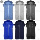 Kids Sleeveless Hooded Hoodie Casual Zipper Sweatshirt Gilet Jacket Jumper Top