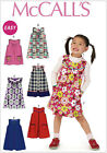 McCall's 6983 Easy Sewing Pattern to MAKE Easy Girl's  Dress / Pinafore Dress