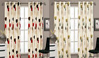 Readymade Faux Silk Ring Top Eyelet Dandelion Plain Fully Lined Modern Curtains