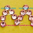 GENUINE Swarovski Rose Peach ( 262 ) Crystal Flatback ( No Hotfix ) Rhinestone