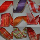 20m quality wired Satin organza ribbon Christmas present wrapping crafts flower