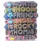 NEW NAME up to 6 LETTERS + CHARM Dog Puppy Cat Pet Personalized Collar - S M L
