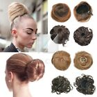 Lady Girl Clip-on Dish Hair Bun Extension Hairpiece Scrunchie Tray Ponytail