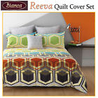 Reeva Quilt Cover Set by Bianca -  DOUBLE QUEEN KING Eurocases Cushion
