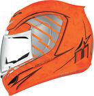 Icon Airmada Volare Hi Viz Orange Motorcycle Helmets