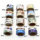 2 X 15mm DIY Craft Washi Tape Set Decorative Paper Sticky Adhesive Sticker New
