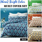 Phase 2 Printed Quilt Doona Cover Set - SINGLE DOUBLE QUEEN KING