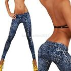 Women Denim Jeans Sexy Leopard Skinny Leggings Jeggings Casual Pants Trousers
