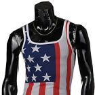 Jeansian Mens T-Shirt Vest Undershirt Tank Top Tee Slim USA Flag 8 Colors D340