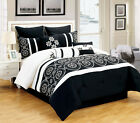 9 Piece Tamara Black and White Comforter Set