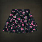 Hollister Womens Navy Floral Tiered Ruffle Mini Skirt NWT