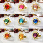 12 pieces Gold Gem Napkin Ring Wedding Party Bridal Shower Favor Decoration Gift