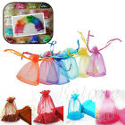 10/50/100 Organza Jewelry Gift Luxury Pouches Bag Wedding Christmas Xmas Favors