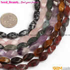Mixed Twist 6x12mm Gemstone Jewelry Making Loose Beads 15 inches ,14 Materials