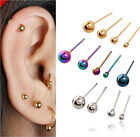 2pc Basic Punk Ball Anti-Allergy Titanium Steel Earrings Stud Free Shipping