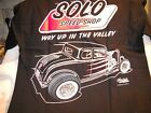 Solo Speed Shop 32 Ford 5 window coupe Streetrod black tee  t shirt S-XXX