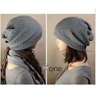 Women Lady Winter Warm Knitted Soft Acrylic Slouch Baggy Beret Beanie Hat Cap