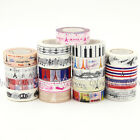 1X Paris Eiffel Tower Decor Washi Tape For DIY Craft Making Sticker Collection