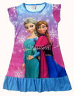 Disney Frozen Elsa Anna Children Kids Girls Dress Pajama Skirt 3-10 Years Blue