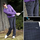 Stromberg Pleated Purple Check 4655 Mens Golf Trousers with Teflon& Lycra £34.99