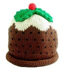 BNWT Baby Boys Girls Merry Berries Christmas Pudding Hat NEW First Xmas knitted