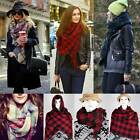 150*135cm Women Lady oversize Shawl New Fashion Scarf Tartan check Wrap Blanket