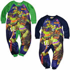Boys Teenage Mutant Ninja Turtles Kids All In One Fleece Onsie New 2 3 4 5 Years