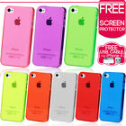 NEW STYLISH SLIM CRYSTAL CLEAR CASE COVER FOR APPLE IPHONE 4 4S + Film