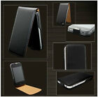 For Apple iPhone 4 4S 5 5S Genuine Luxury Leather Magnetic Flip Case Cover Pouch