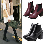 Size 7 8 Women 9cm High-Heeled Thick With Snow Ankle Boots Platform Shoes