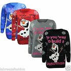 Frozen Do You Want To Build a Snowman Olaf Christmas Jumper Sweater Xmas 3D Nose