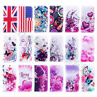 For Multi Phone Model Flip Leather PU Wallet Stand Case Cover Folio Rubber Skins