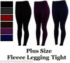 PLUS SIZE Seamless FOOTLESS Women's Warm Thick Fleece Legging NEW SK300 1X 2X 3X