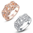 Exquisite Smart Crystals 18K Rose White Gold Plated Fashion Rings Multi shapes