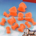 Pick Gauge Orange Flexible Silicone Triangle Ear Tunnel Plugs Expander Stretcher