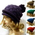 KOREA Quality Oversized Warm Winter Knitted Knit Braid Pom Ski Hat Sport Slouchy