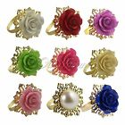 40 Wedding Party Banquet Romantic Rose Napkin Rings Dinner Table Holder Decor