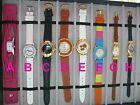 Ladies Le Chat Watch - YOUR choice of 8 - rose abalone blue pink leather gossip