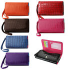 Wallet XXL Cash & Credit Card Alligator Case for Nokia Lumia 1320 (Seven Colors)