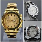 New Fashion Men's Date Stainless Steel Military Sport Quartz Wrist Watch 2014