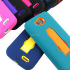 For LG Optimus L90 Rugged Impact Hybrid Protective Hard Case Cover Kickstand