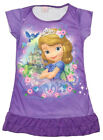 Disney Princess Sofia the First Girl Pajama Night Gown Dress 3-10 Years Purple